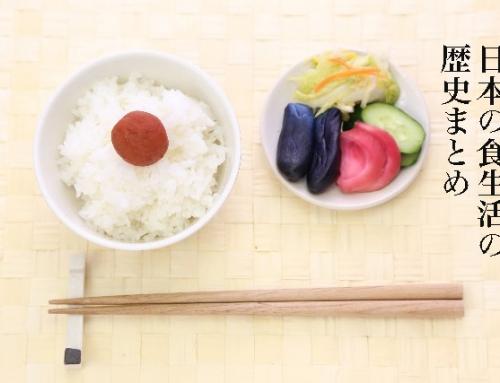 日本の食生活の歴史のまとめ